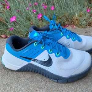 Nike Blue tones Flywire Metcon 2 trainers